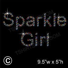 Sparkle Chica de diamantes/imitaci ón diamante transferencia Hotfix ironon Motif Con Un Regalo Gratis