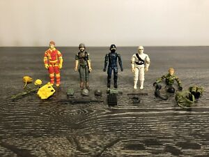 Hasbro GI JOE 1983-84 Storm Shadow-Clutch-Blowtorch-Cobra-Rip Cord Figures