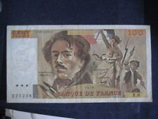 FRANCE 1968-81 ISSUE - 100 FRANCS - DELACROIX - DATED 1978, P154a - VF