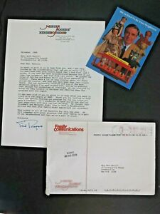 "Fred Rogers ""Mr. Rogers' Neighborhood"" Typed Letter Signed 1998 Postcard V Good"