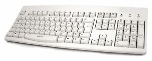 Accuratus 260 - USB Full Size Lower Case Keyboard with Full Height Keys - White
