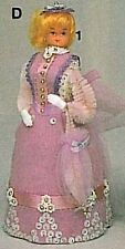 "MY FAIR LADY Kit Ms LAVENDER BUSTLE Doll Body Gown 6"" Foam  Beaded  Beads"