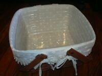 2004 Longaberger Cake Basket With Handles insert liner, riser