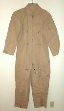 ARMY NOMEX CWU-27/P FLIGHT SUIT - DESERT TAN - SIZE 40S - BRAND NEW