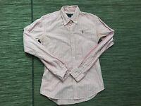 Ralph Lauren Women's Size 4 Slim Fit Button Down Shirt Pink Plaid Cotton