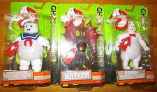 "GHOSTBUSTERS 2016 6"" LIGHT UP GHOST FIGURE SET 3 STAY PUFT BALLOON ROWAN MAYHEM"