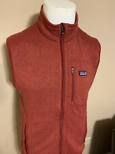 PATAGONIA Red Full Zip Polyester Lightweight Mens Sweater Vest Medium M