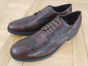 Geox Respira U Blade, Brown Mens Breathable Leather Formal Brogue Shoe - New