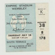 Orig. Ticket World Cup England 1966 UdSSR-Portugal Game Space 3.! extremely RARE