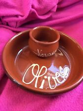 Terracotta Olive Bowl With Noyaux Bowl Pre Owned