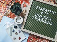 Empaths Crystal Healing Gemstones Reiki Chakra Spiritual Anxiety Stress Kit