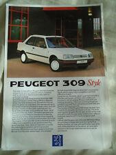 Peugeot 309 Style brochure Jun 1988