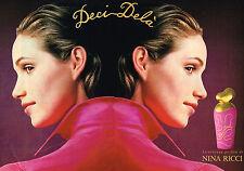 PUBLICITE ADVERTISING 035  1994  NINA RICCI  parfum femme  DECI-DELA  ( 2 pages)