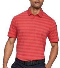 Under Armour 2XL XXL Polo Mens Golf Red Stripe Heatgear Cotton  Stripe MSRP $50