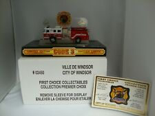CODE 3 COLLECTIBLES CITY OF WINDSOR CANADA E-1 CANADIAN ISSUE MINT IN MINT DOME