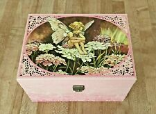 Flower Fairies Cicely Barker Musical Jewelry Box 1985 Design Philipp Sweden