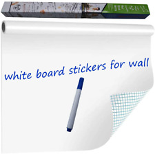 Wishave Large Dry Erase Whiteboard Sticker Wall Decalself Adhesive White Board