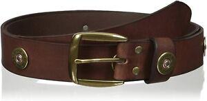 Nocona Mens Multi Shotgun Shell Concho Leather Belt