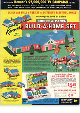 1962 PAPER AD Kenner's Build A Home & Subdivision Set Girder & Panel