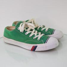PRO KEDS Men's Royal Sneakers Canvas Lo Top Low Size 10 Retro Green Stripes
