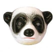Child Plastic Panda Mask Jungle Animal Fancydress Accessory Bear Black and White