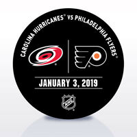 Philadelphia Flyers Issued Unused Warm Up Puck 1/3/19 Vs Carolina Hurricanes
