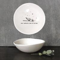 East of India vacille porcelaine blanche cœur souvenirs sont plus jolie chose 10x9cm