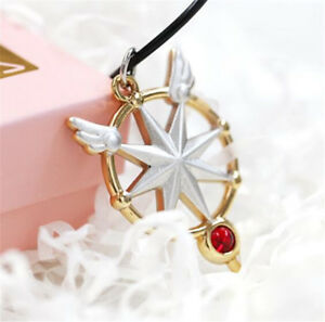 Anime Card Captor Sakura Kinomoto Star Wand Key Necklace Pendant Cosplay Gift