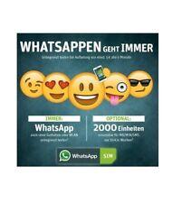 2 Stück !!! WhatsApp Sim Prepaid Sim Karte mit 4000 Einheiten + 5? Guthaben