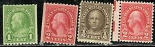 #604, 606, 634, 653 1922-31 Presidents Mlh 4 different stamps