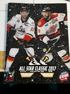 2017 ECHL ALL STAR PROGRAM GLENS FALLS NY WITH PULLOUT LINEUP SHEET.