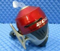 Zebco 202 Spincast Reel w/ 10lb test mono red silver black NEW NEW NEW NEW