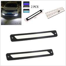 2PCS White DRL LED Car SUV Daytime Running Light Stripes Driving Bulb Fog Light
