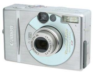 Canon PowerShot Digital ELPH S300 2.0 MP Digital Camera Metal w Mem Card Charger