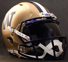 *CUSTOM* WASHINGTON HUSKIES NCAA Riddell Speed AUTHENTIC Football Helmet