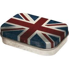 Retro Tin Metal Pill Box 'UNION JACK' filled with Mints - 6 x 4cm London UK Flag