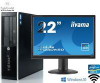 Fast Hp 8300 Elite SFF Fast Intel i5 4GB 500GB Cheap Full Set Windows 10 Pro PC