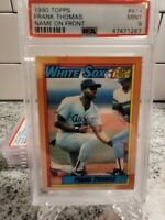 1990 Topps Name on Front Frank Thomas ROOKIE RC #414 PSA 9 MINT HOF  INVEST 🔥📈