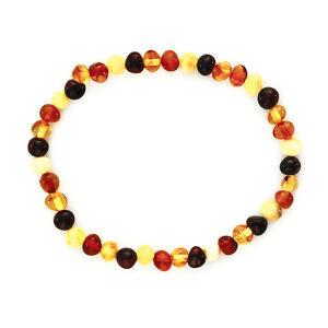 Bracelet Adulte Ambre Multicolore - Véritable Ambre de la Baltique