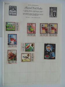 PA 402 - Page Of Mixed Trinidad & Tobago Stamps
