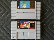 Super Nintendo (SNES) 2 Game Lot - Super Mario World & Disney's Aladdin