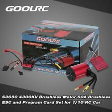 GoolRC S3650 4300KV Motor 60A ESC and Program Card for 1/10 RC Car Truck X0P1