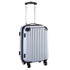 "GLOBALWAY 20"" Expandable ABS Carry On Luggage Travel Bag Trolley Suitcase Gray"