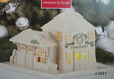 Lenox Christmas Village Train Station Lighted Building new in box $140