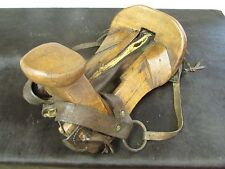 Antique Half Saddle #1-Old Mexican-Western-Rustic-Vaquero-Cowboy-Leather