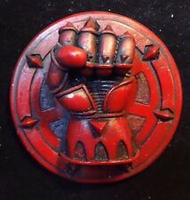 40k Space Marines Crimson Fist chapter pin