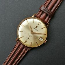 FESTINA Gold Plated Vintage 1950s Watch AS 1560 Reloj Montre Orologio Swiss