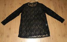 s.Oliver Triangle Spitzenshirt - Shirt Spitze - in schwarz Größe 48 NEU