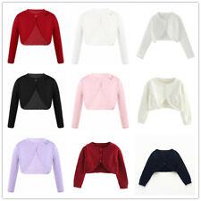 Kids Long Sleeve Sweater Cardigan Thin Girls Lace Bolero Shrug  Fashion Coat Top