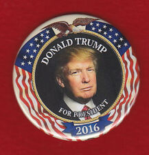 COLORFUL TRUMP FOR PRESIDENT  CLASSIC FLAG DESIGN   RALLY PIN